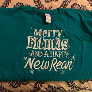 Funny Xmas graphic t siZe large.